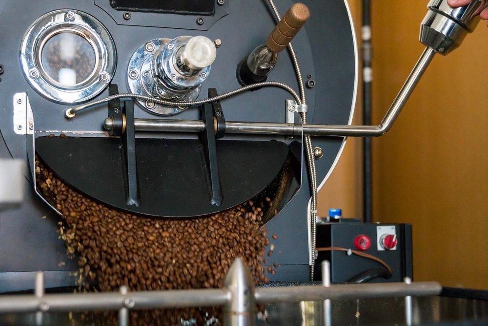 coffee drum roasting pic
